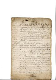Document notarié - legs par Arnaud Duthoya du domaine de Malagarre. : 1ère page |
