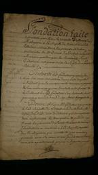 Document notarié - legs par Arnaud Duthoya du domaine de Malagarre. : Document de présentation |