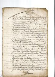 Document notarié - legs par Arnaud Duthoya du domaine de Malagarre. : 3ème page |