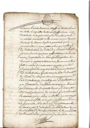Document notarié - legs par Arnaud Duthoya du domaine de Malagarre. : 5ème page |